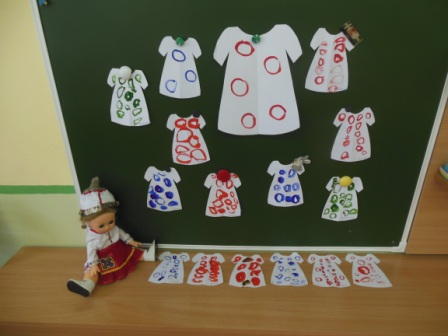 Рисование украсим платье кукле